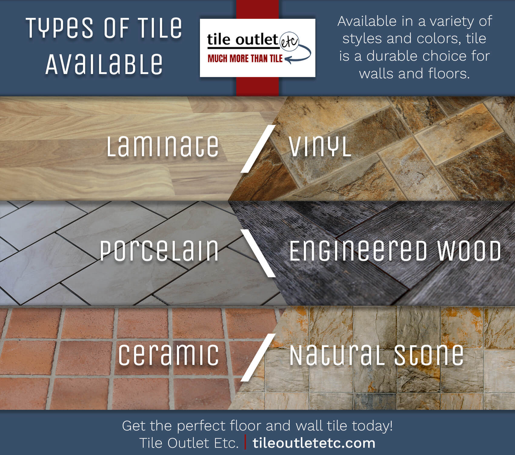 Types of Tile Available
