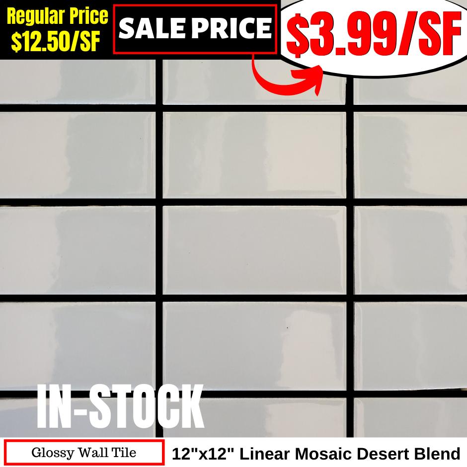 12x12 Linear Mosaic Desert Blend
