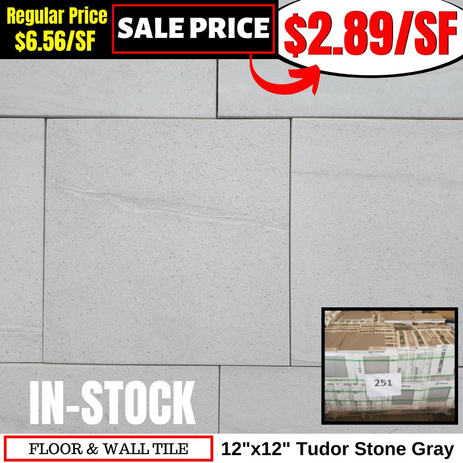 12x12 Tudor Stone Gray
