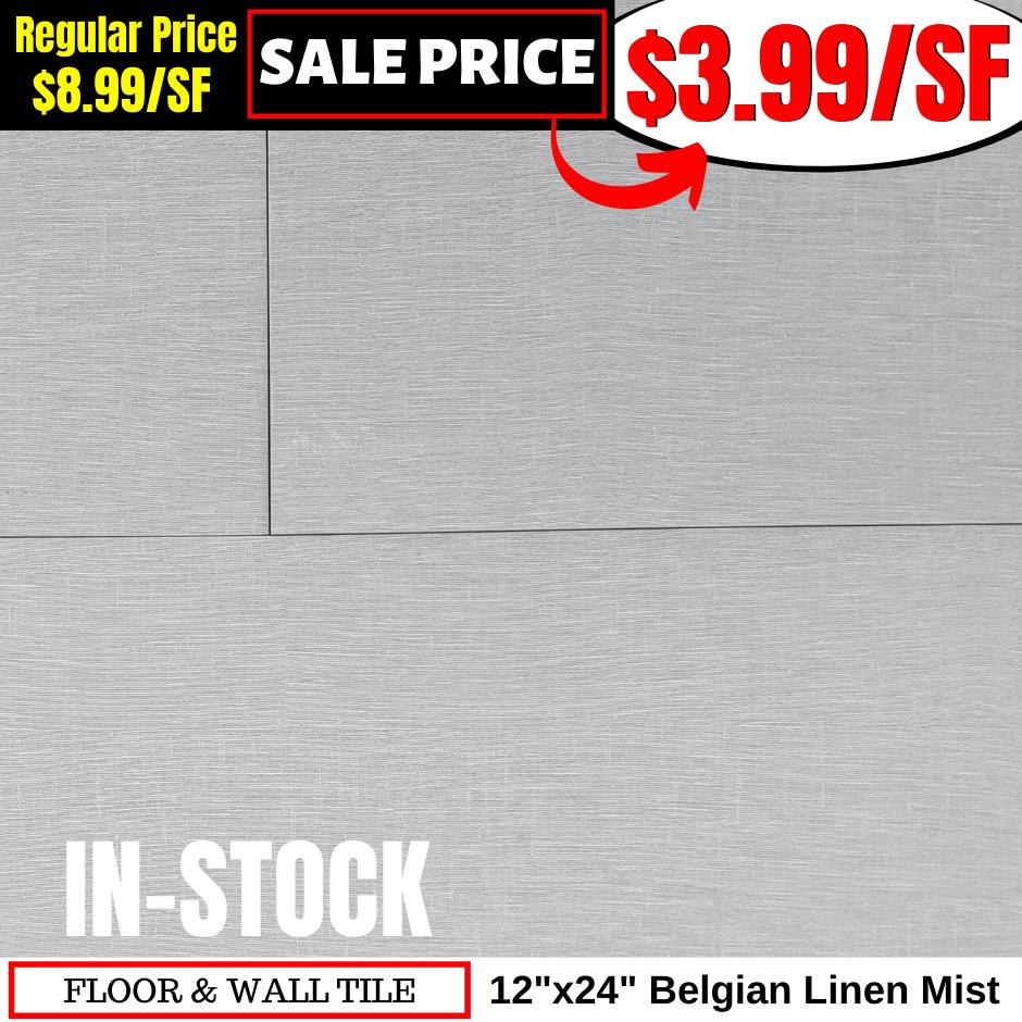 12x24 Belgian Linen Mist