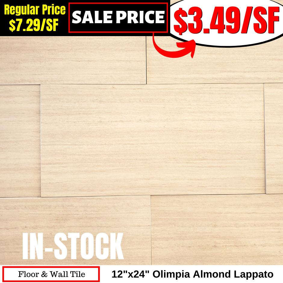 12x24 Olimpia Almond Lappato