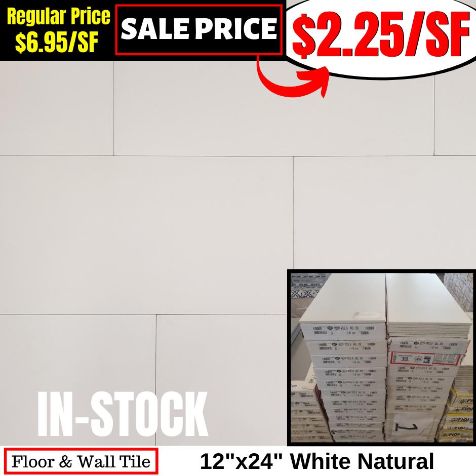 12x24 White Natural