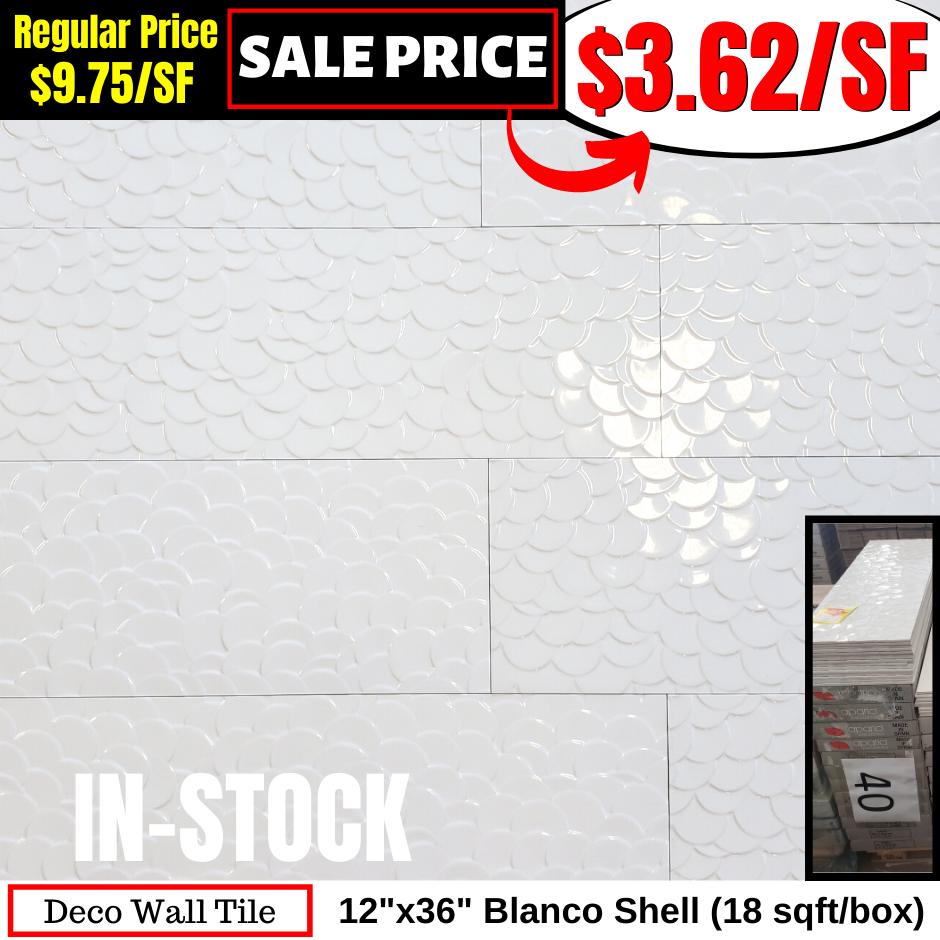 12x36 Blanco Shell