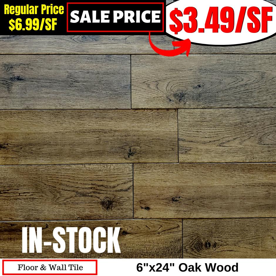 6x24 Oak Wood
