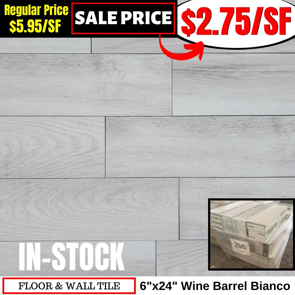 6x24 Wine Barrel Bianco