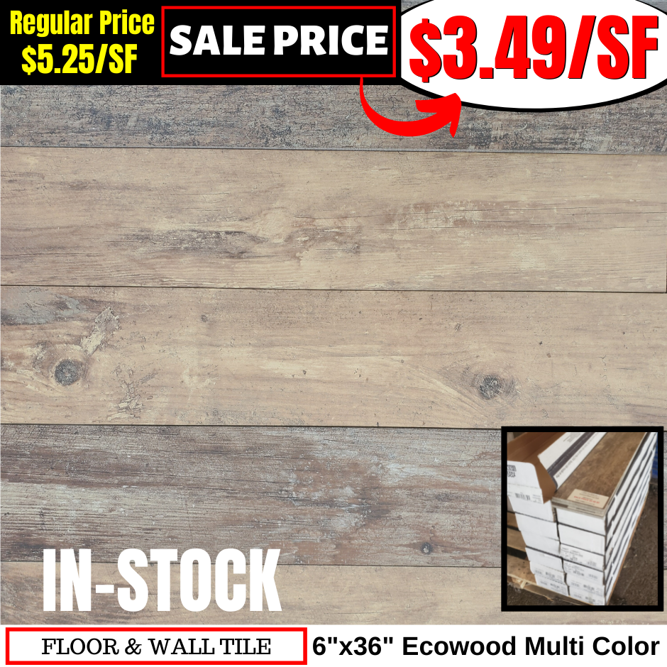 6x36 Ecowood Multi Color