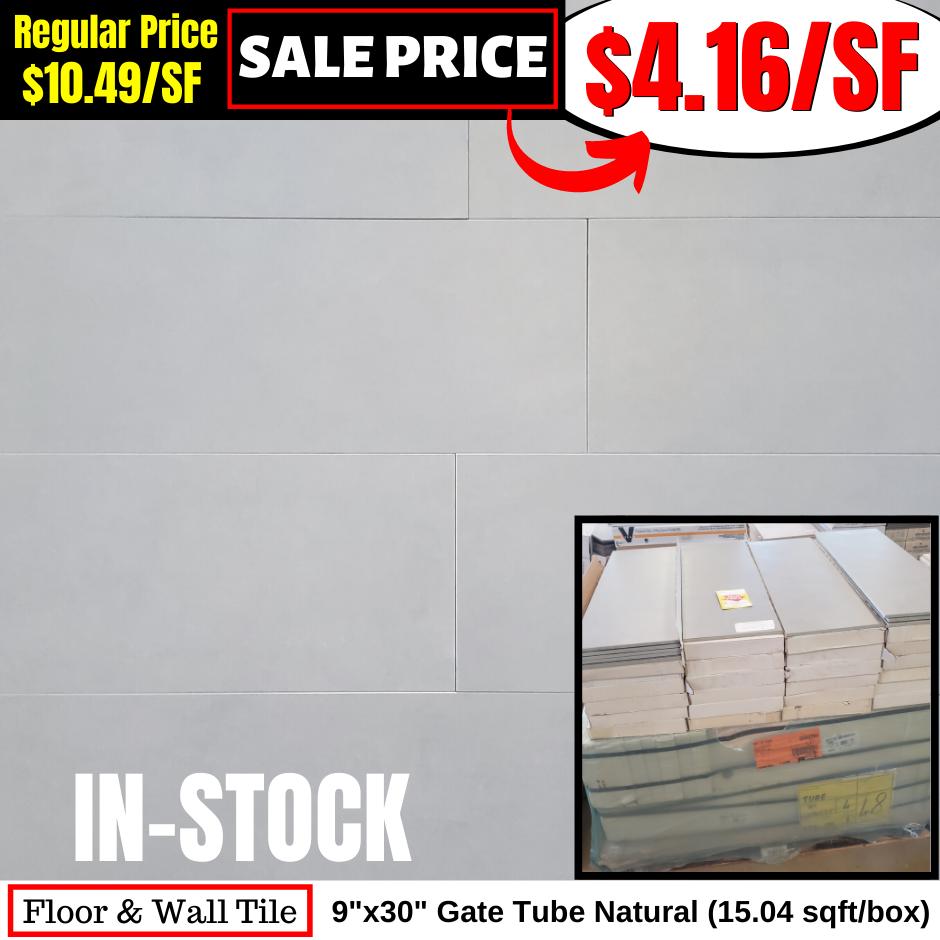 9x30 Gate Tube Natural