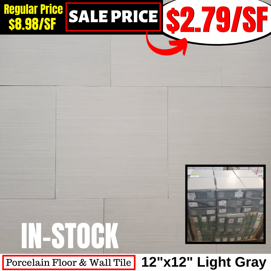 12x12 Light Grey